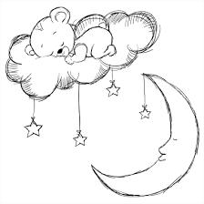 stickers nounours pour chambre bébé stickers chambre enfant ourson et la lune