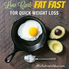 fat fast diet menu for quick weight loss all natural ideas