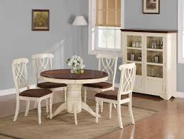 over two tone table piece set piece rustic black and white dining