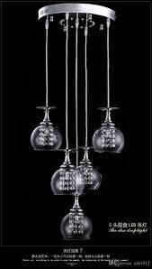 black crystal pendant light modern clear wine glass crystal pendant l k9 crystal living room