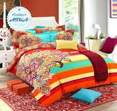 brushed cotton bohemian bedding sets 4pcs queen king duvet cover