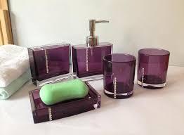 Salle De Bain Bathroom Accessories by Complete Your Bathroom With Sweet Purple Bath Accessories Homesfeed