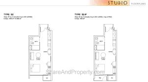 Studio Floor Plan by High Park Residences Floor Plan Studio Condo Singapore