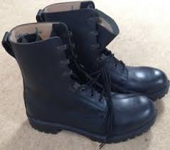 s army boots uk army black leather combat boots uk size 10l ebay