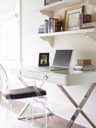 Black Desk And Chair Modern Office Design With Phillipe Stark Louis Ghost Chair With