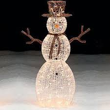 trim a home 50 lighted snowman outdoor decoration
