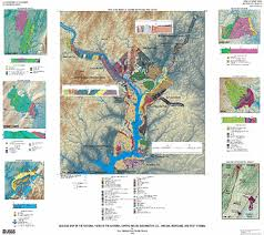 washington dc region map geologic map of the national parks in the national capital region