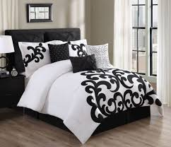All Black Bedroom Furniture by Bedroom 9 Piece Empress Black And White Bedding Set With Black
