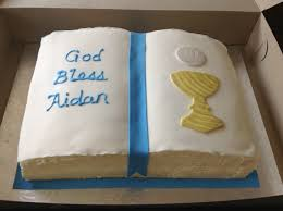vanilla bible cake for a little boy u0027s first communion ode to