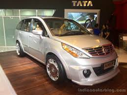 renault lodgy modified modified tata aria showcased in indonesia