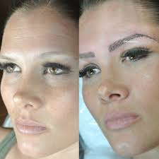 Eyebrow Tattoo Before And After Bad Permanent Makeup Before And After Pr Energy