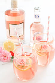 martini champagne rose bridal shower drink idea rosé cocktail courtesy of glitter