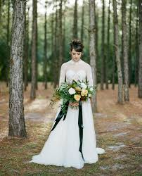 glam moody holiday wedding inspiration in the woods green