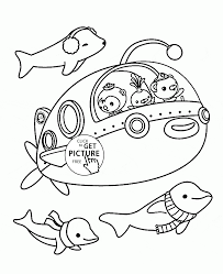 cartoon submarine coloring page for toddlers transportation