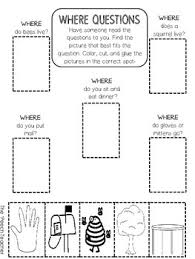 color cut glue wh question worksheets by the u0027peech teacher tpt