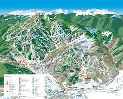 Buffalo Creek Trail Map Beaver Creek Resort Ski Trail Map Avon Colorado United States