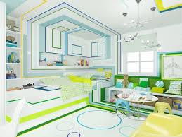 chambre enfant vert chambre enfant bleu vert jaune