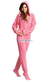 pink stripes hoodie footie pajamas my sleep number
