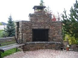outdoor fireplace on patio archadeck outdoor living