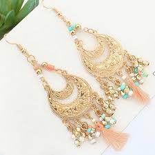 earrings malaysia p121134 coolourful dangling chandelier cloth earrings malaysia