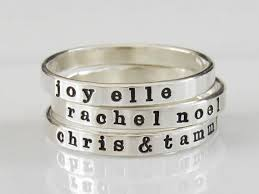 stacking name rings stackable name ring personalized ring name ring custom name