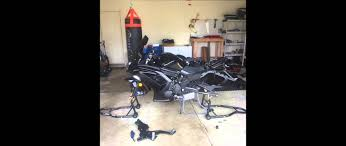 tire change 2015 ninja 650 rear tire removal youtube