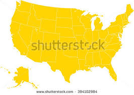 map usa color modern color map usa federal states stock vector 394102981