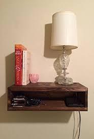 Floating Nightstand Shelf Floating Bedside Table Rustic Nightstand Barn Wood