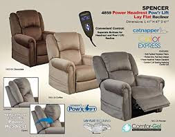 amazon com spencer 4859 lay flat lift chair with power headrest
