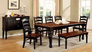 palisade dining set with bench in black u0026 cherry finish u2022 usa