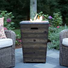 global outdoors fire table sandpoint faux wood fire column