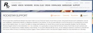 social club accounts being hacked change your password