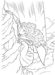 brave coloring pages merida climbing riff coloringstar