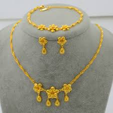 gold pendant chain bracelet images Find more jewelry sets information about fashion 22k gold plated jpg