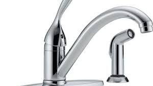 faucets kitchen home depot delta foundations single handle standard kitchen faucet with side