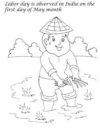 first day of may month is labor day in india coloring page color