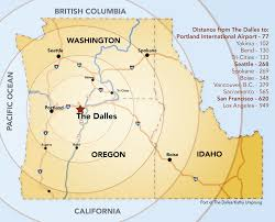 California Travel Distance images Port of the dalles transportation png