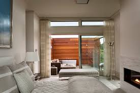Amazing Inspirations That Take The Bathroom Outdoors - Master bedroom with bathroom design