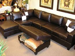 furniture elegant black leather oversized sectionals sofa for