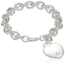 link bracelet silver images Guess quot basic silver g logo heart link bracelet 7 5 jpg