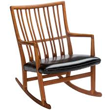 Outdoor Wooden Rocking Chairs For Sale Hans Wegner For Mikael Laursen Ml 33 Rocking Chair For Sale At 1stdibs
