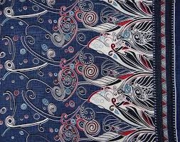 Paisley Home Decor Fabric by Designer Fabric Home Decor Paisley Print Navy Blue Fabric