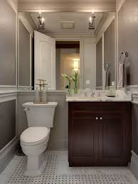 powder bathroom ideas i m liking the grey walls and the mirror across the back of the