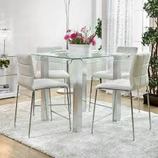 Dining Room Glass Tables Wade Logan Gian Counter Height Dining Table U0026 Reviews Wayfair