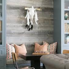 bathroom barn board accent wall design ideas