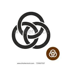 borromean ring borromean rings three interlaced rings vector stock vector