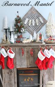 Barnwood Home Decor My Barnwood Christmas Mantel The Country Chic Cottage