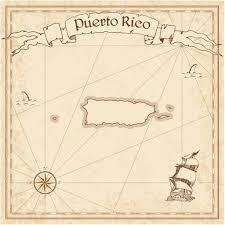 Map Puerto Rico Puerto Rico Old Treasure Map U2014 Stock Vector Gagarych 113195546