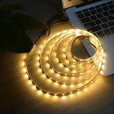 ip65 usb cable power led strip light lamp smd 3528 christmas desk