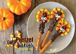 kara s ideas easy thanksgiving pretzel turkeys recipe